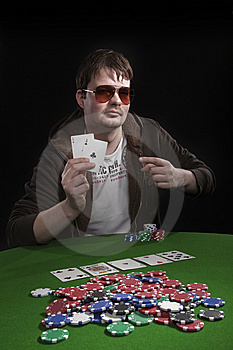 Man Playing Poker Stock Photos - Image: 8549933