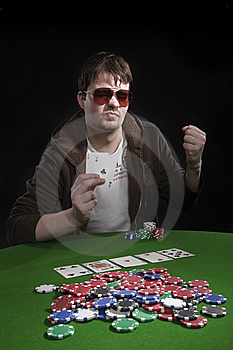 Man Playing Poker Stock Photography - Image: 8549972