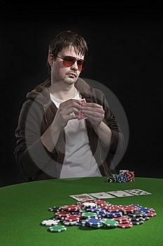 Man Playing Poker Stock Photos - Image: 8550103