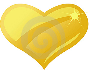 Golden Amber Heart/eps Royalty Free Stock Photo - Image: 8550235