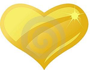 Golden Amber Heart/eps Royalty Free Stock Photo - Image: 8550235