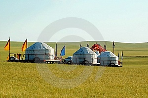 Yurt Photo libre de droits - Image: 8550475