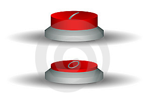 Two Red Buttons Royalty Free Stock Image - Image: 8550766