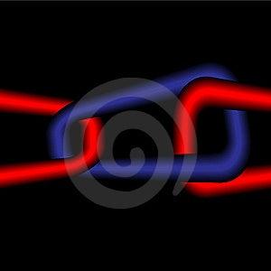 Red-dark Blue Infinite Chain Stock Photography - Image: 8550892