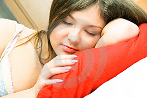 Beautiful Sleeping Woman Stock Images - Image: 8551424