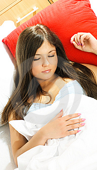 Beautiful Sleeping Woman Royalty Free Stock Image - Image: 8551436