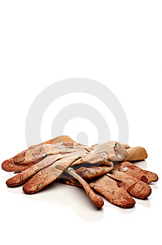 Old Worn Work Gloves Stock Photos - Image: 8551483