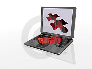 Puzzle And Puzzle Removing Royalty Free Stock Images - Image: 8551889