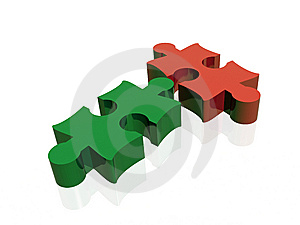 2 Puzzles Stock Image - Image: 8551971