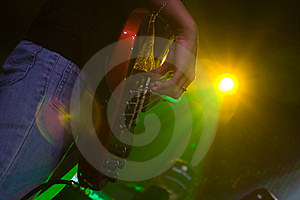 Guitar And The Light Royalty Free Stock Photo - Image: 8552185