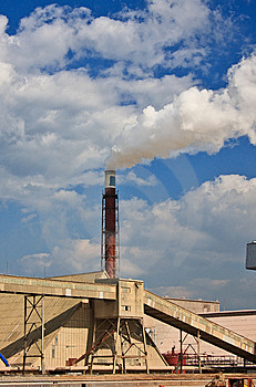 Smokestack Of The Plant Stock Images - Image: 8552294