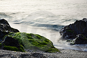 Long Exposure On Shore Royalty Free Stock Photos - Image: 8552508