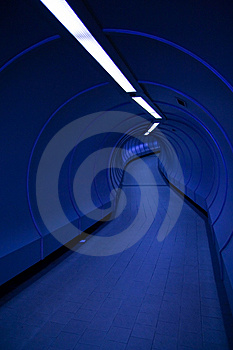 Blue Tunnel Royalty Free Stock Images - Image: 8552649