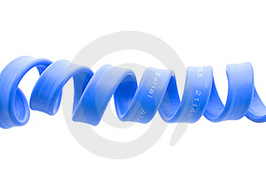 Cabo De Série Do Azul Do Computador Do Ata Imagem de Stock - Imagem: 8553471