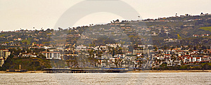 San Clemente Pier Taken From The Water Royalty Free Stock Photo - Image: 8554535