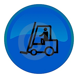 Web Button - Forklift Truck Stock Images - Image: 8554844