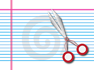 Paper With Scissors Stock Images - Image: 8555804