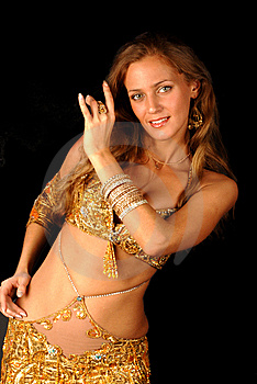 Bellydancer Royalty Free Stock Images - Image: 8555949