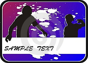 Background With Two Silhouettes Teenager Stock Photography - Image: 8556062