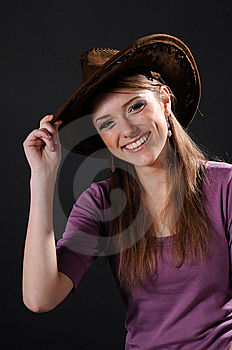 Pretty Cowgirl Royalty Free Stock Photos - Image: 8556358