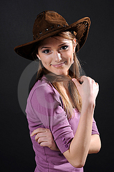 Pretty Cowgirl Stock Images - Image: 8556514