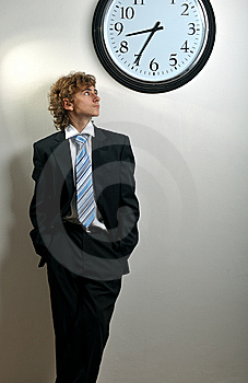 Businessman And Clock Stock Photos - Image: 8556613