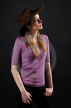 Pretty Cowgirl Royalty Free Stock Photo - Image: 8556615