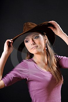 Pretty Cowgirl Stock Photo - Image: 8557010