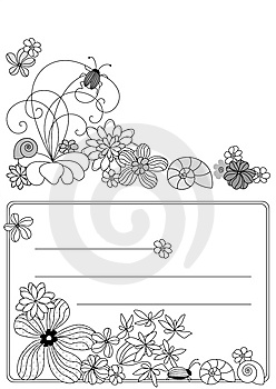 Design With Flowers Stock Images - Image: 8557024