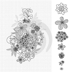 Design With Flowers Royalty Free Stock Photos - Image: 8557038