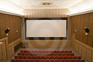 Cinema Interior Stock Photo - Image: 8557190