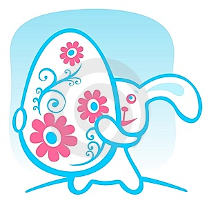 Rabbit With Easter Egg Royalty Free Stock Images - Image: 8557329