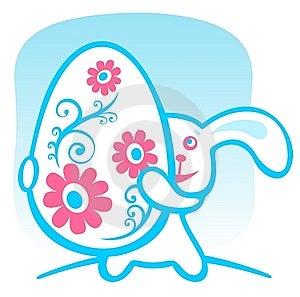 Easter Jajka Królik Obrazy Royalty Free - Obraz: 8557329