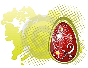 Huevo De Pascua Rojo Foto de archivo libre de regalías - Imagen: 8557335