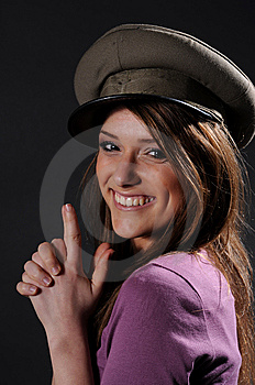 Army Girl Royalty Free Stock Images - Image: 8557349