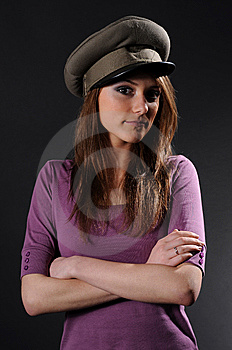 Army Girl Royalty Free Stock Image - Image: 8557396