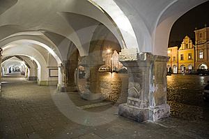 Arcade With Town Square Stock Photography - Image: 8557402