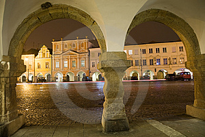 Arcade With Town Square Royalty Free Stock Image - Image: 8557436