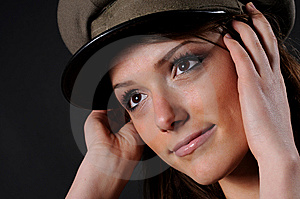 Army Girl Royalty Free Stock Photos - Image: 8557678