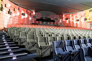 Cinema Interior Royalty Free Stock Image - Image: 8557696