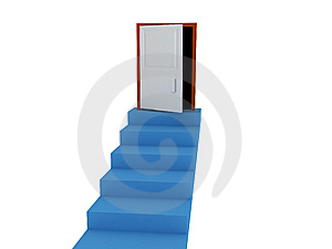 Stairways And Door Stock Image - Image: 8557741