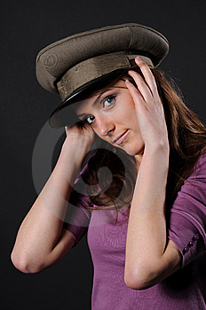 Army Girl Royalty Free Stock Image - Image: 8557796