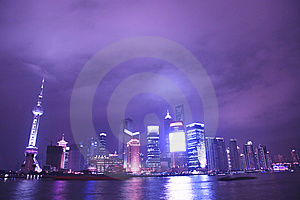 Night View Of City Stock Photos - Image: 8557833