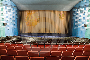 Cinema Interior Royalty Free Stock Image - Image: 8557916