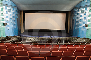 Interior Del Cine Imagen de archivo - Imagen: 8557991