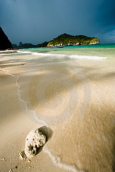 Tropical Storm Over A Deserted Beach Royalty Free Stock Photo - Image: 8558925