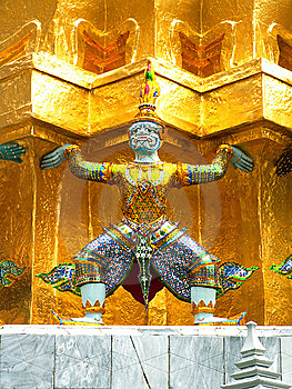Decoration Of Wat Phra Kaew Stock Photography - Image: 8558962