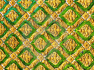 Ornamented Wall Royalty Free Stock Photography - Image: 8558987