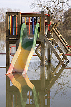 Playground Under Water Stock Image - Image: 8559351