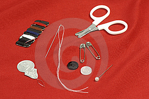 Sewing Kit Royalty Free Stock Photo - Image: 8559685